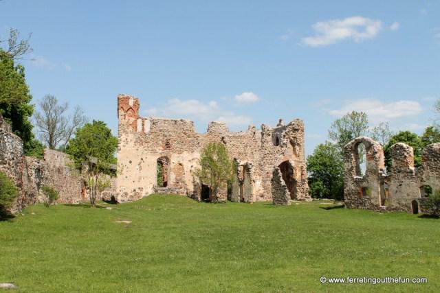 dobele castle ruins latvia