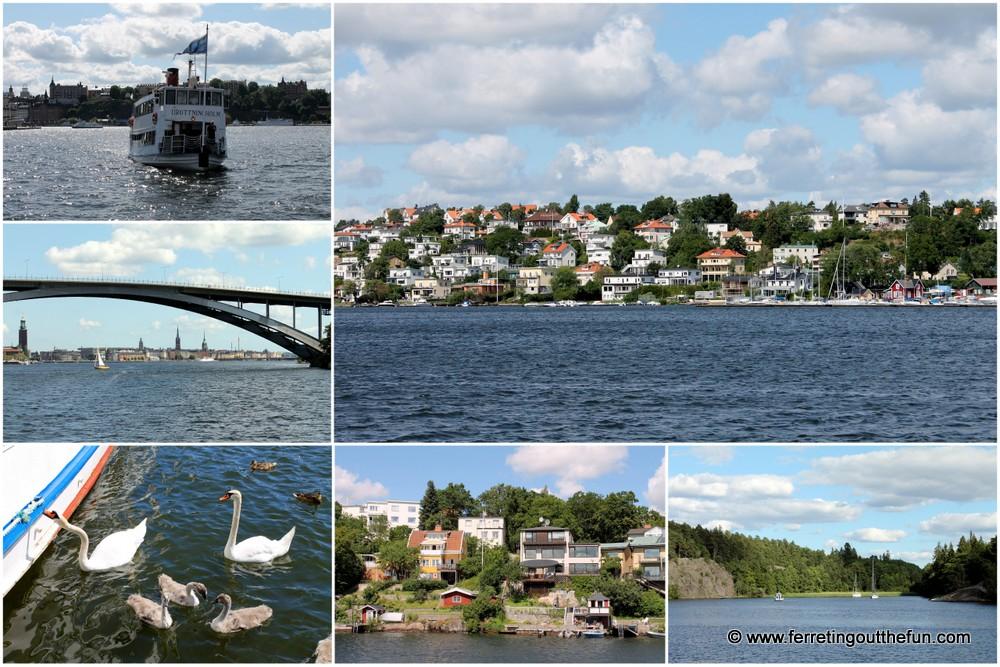 Stockholm Drottningholm boat