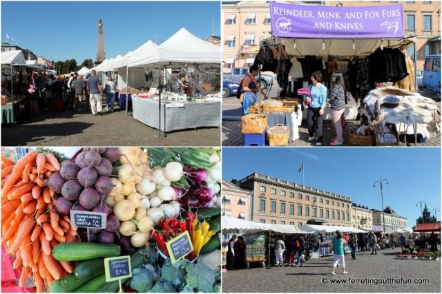 Helsinki harbor market