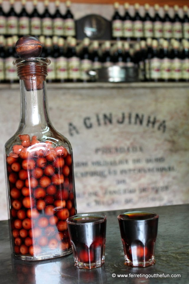 Ginjinha Liquor in Lisbon, Portugal