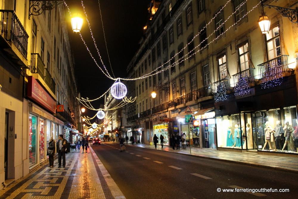 lisbon christmas lights