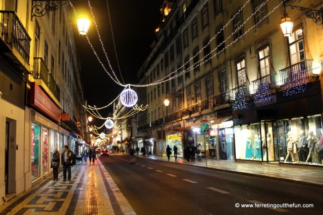 lisbon christmas lights