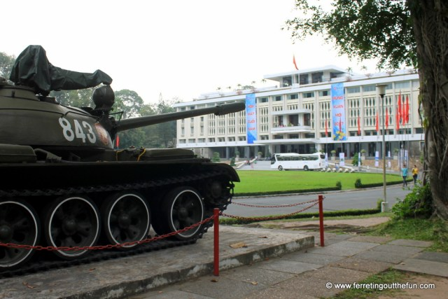 reunification palace tank