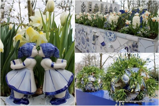 delft blue garden