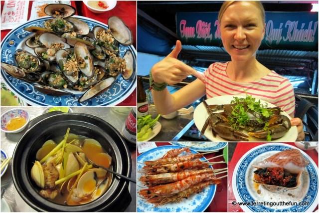 saigon street eats seafood tour