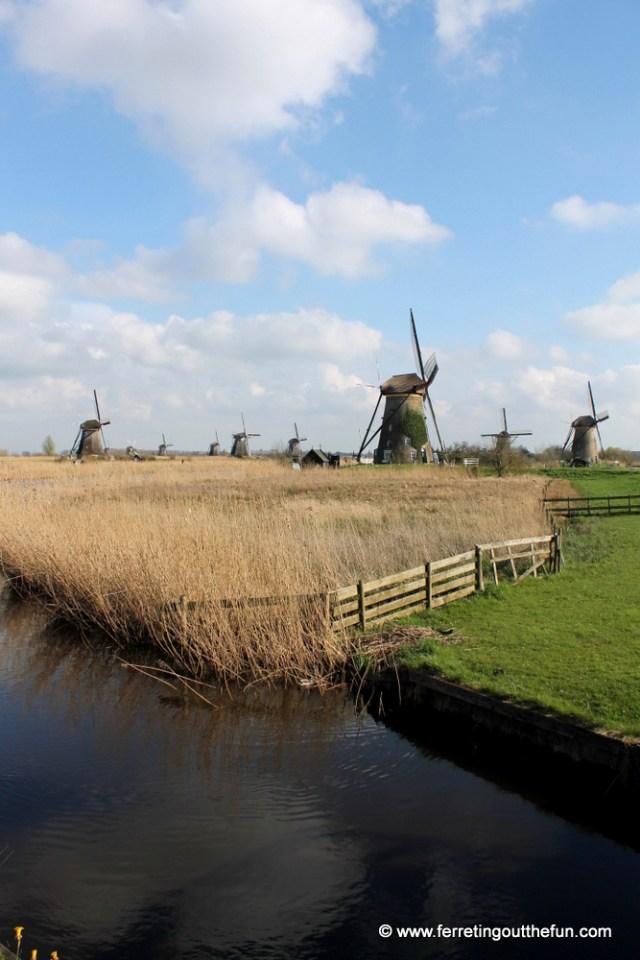 The UNESCO listed windmills of Kinderdijk, Netherlands