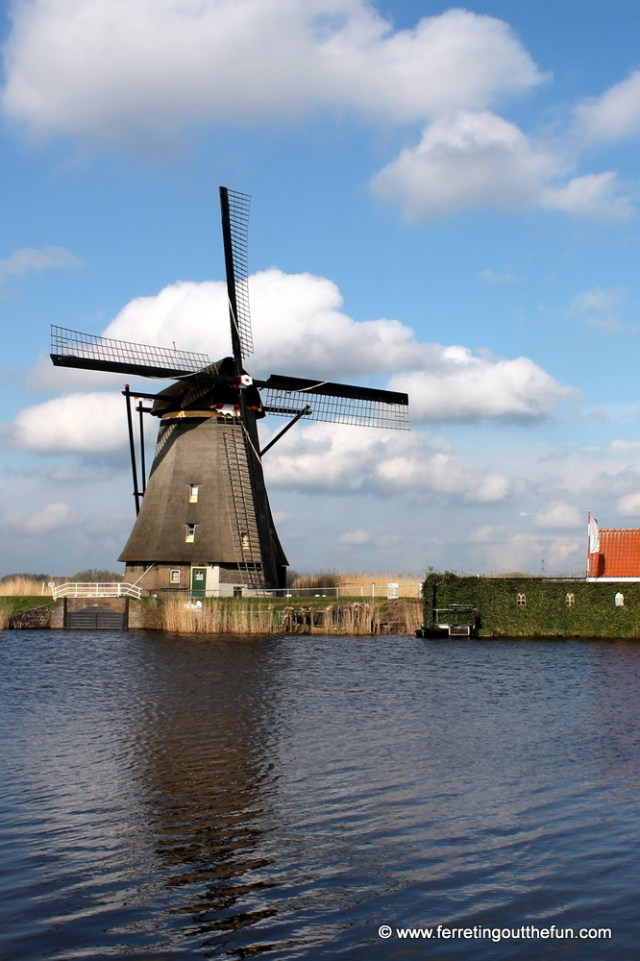 A windmill in Kinderdijk, Netherlands