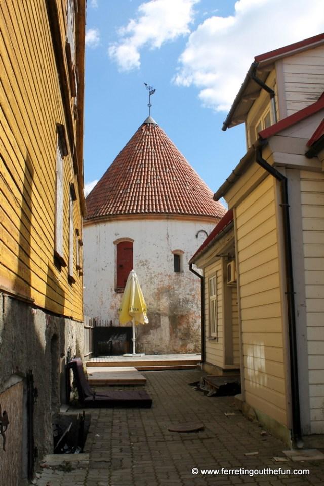 A medieval fortification in Parnu Estonia