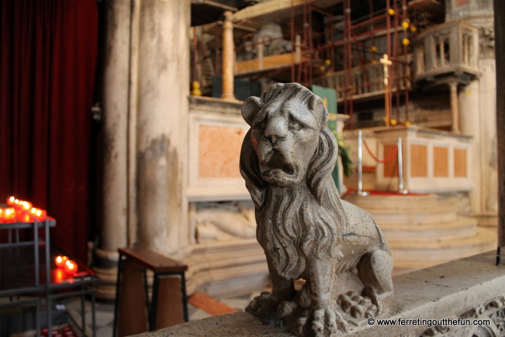 Sibenik stone lion