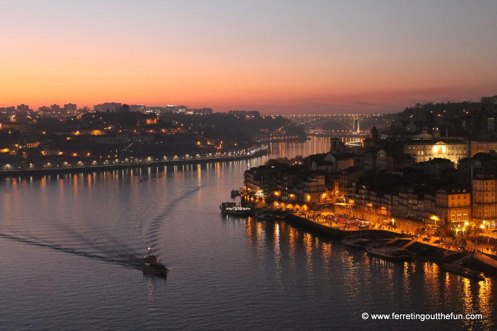 Porto sunset view