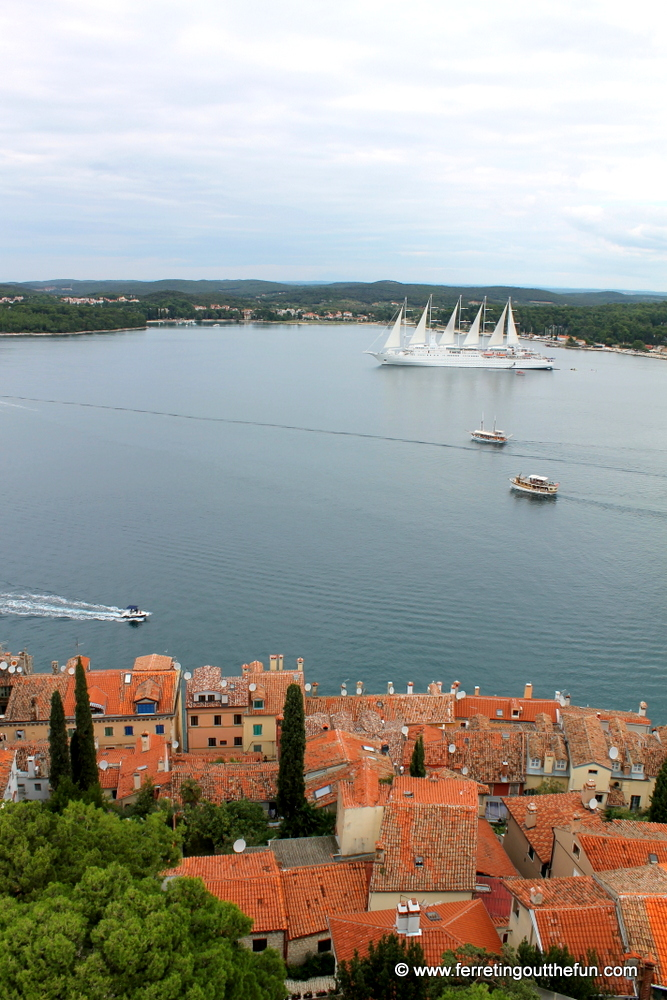 View from the Rovinj bell tower