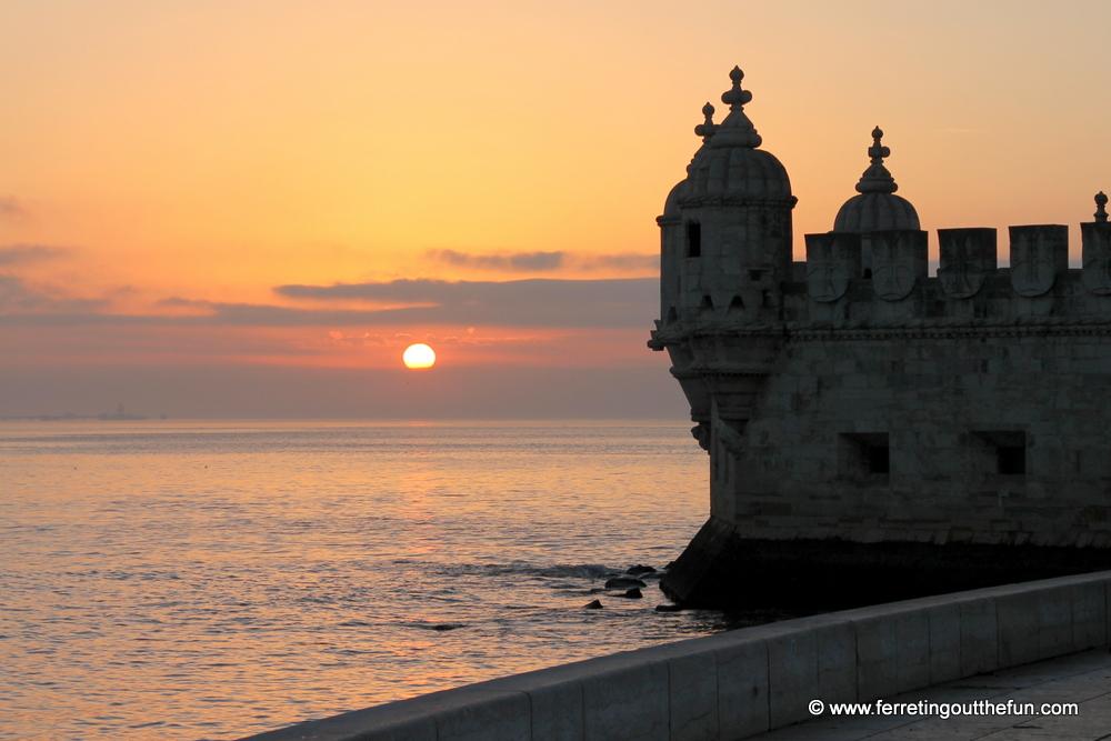 Belem Tower sunset