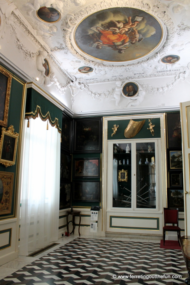 The beautiful interior of Wilanow Palace in Warsaw