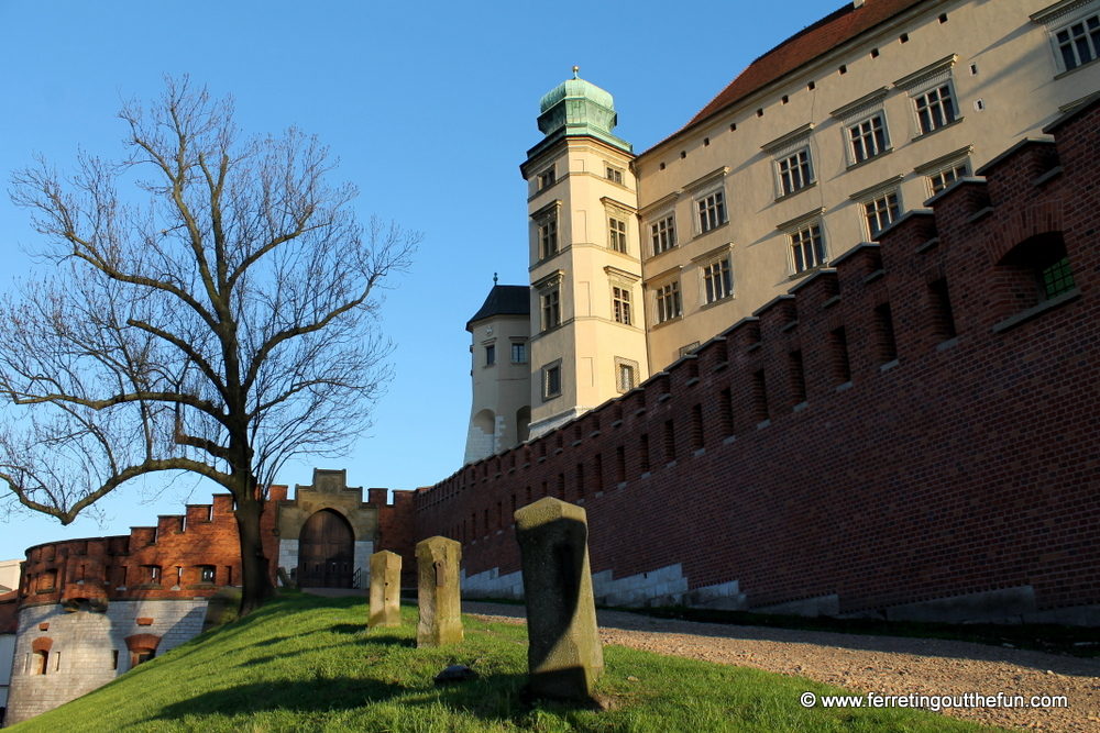 Krakow castle walls