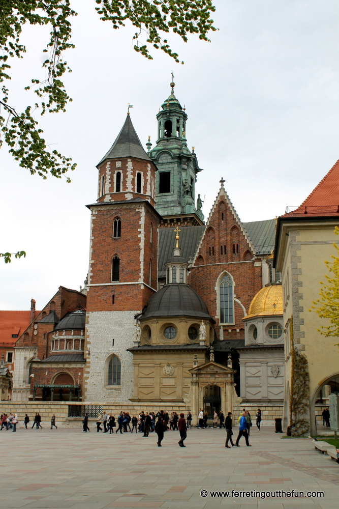 Wawel Castle Cathedral in Krakow, Poland