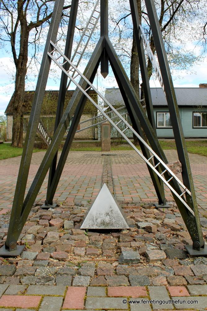 The Struve Geodetic Arc, a UNESCO site in Jekabpils, Latvia