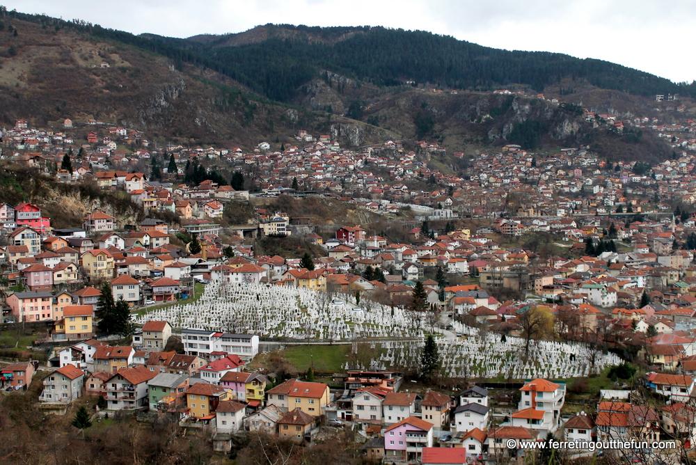 sarajevo yellow fortress view