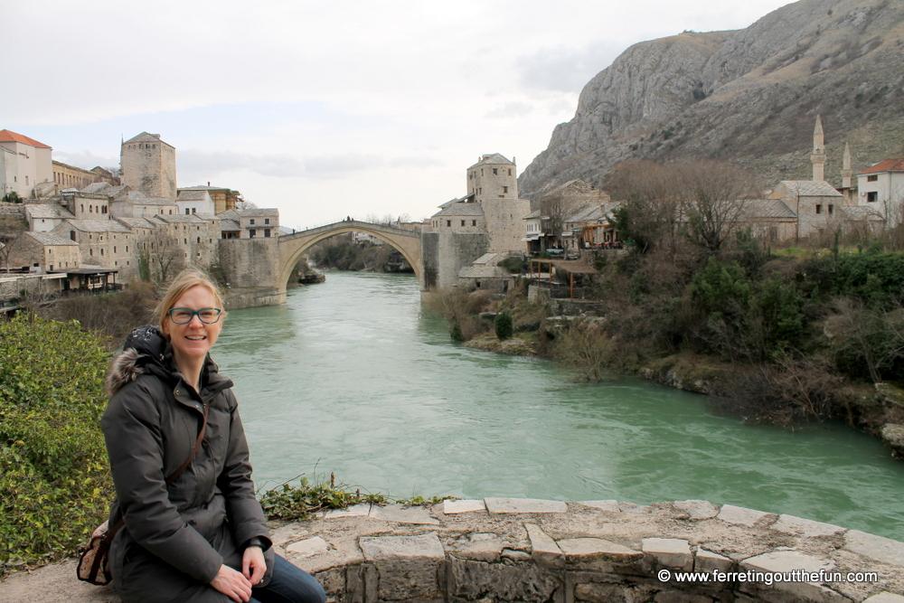 Mostar bridge view