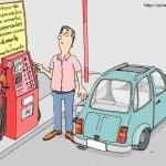 Cartoon sobre o preço da gasolina do http://raim.blogspot.com/