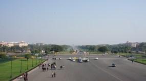 Blick auf den Rajpath - im Hintergrund das India Gate