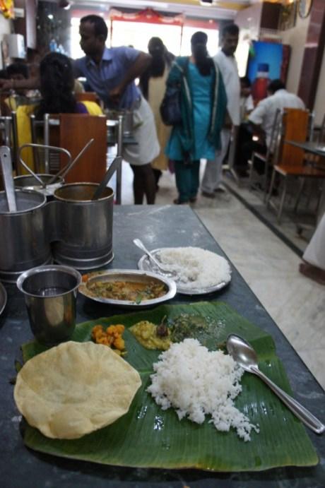 Mein Thali in Rameswaram in Südindien