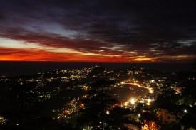 Sonnenuntergang über Shimla