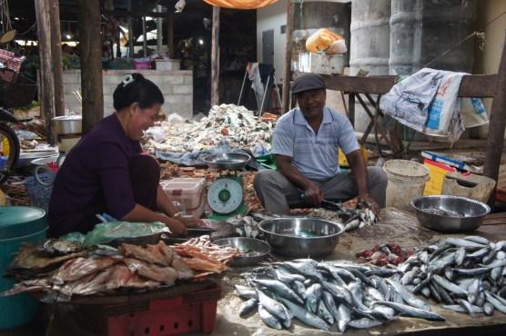 Vermutlich frischer Fisch auf dem Markt