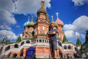 Ein Muss für Russlandreisende: die Basilius-Kathedrale am Roten Platz ggü. des Kremls