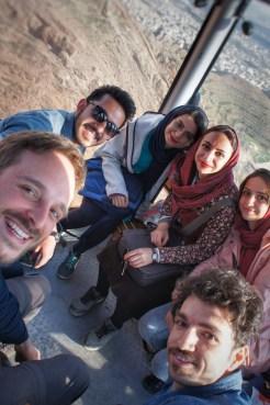 Durch Zufall kennengelernt und extrem viel Spaß gemeinsam gehabt: Fatemeh, Nazila, Niloofar, Mehrzad und Hossein.