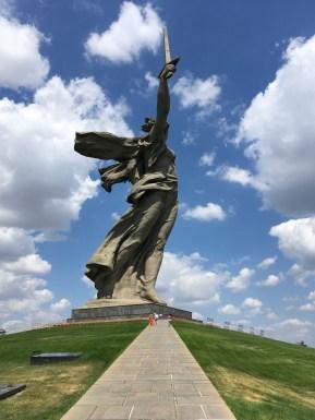 82 Meter Höhe misst die Mutter-Heimat-Statue in Wolgograd –und ist damit eine der höchsten Statuen der Welt.