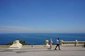 Blick von der Basilique Notre-Dame d'Afrique auf das Mittelmeer