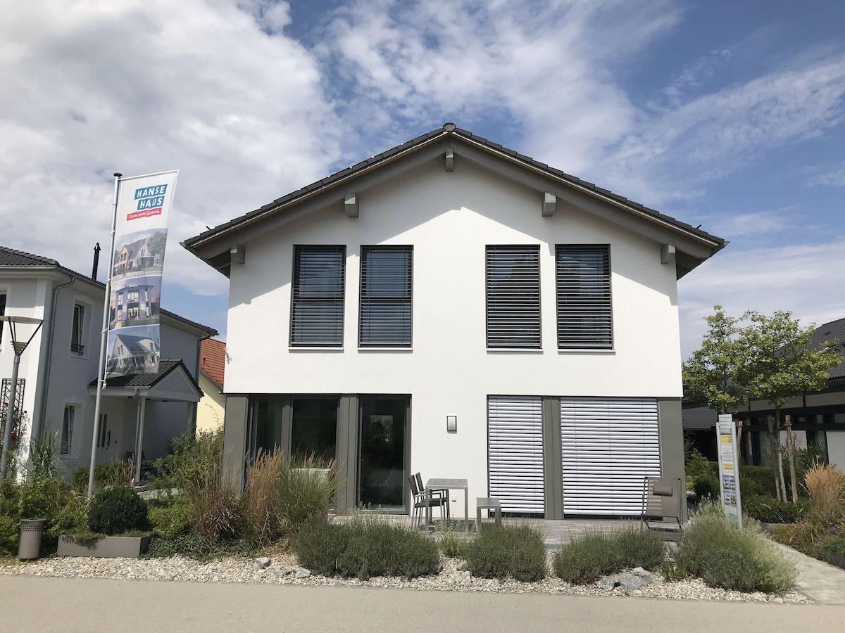 Eine Hanse Haus Musterhaus in einem Musterpark