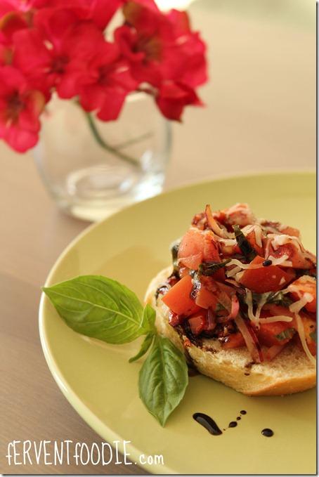 fervent foodie tomato basil bruschetta