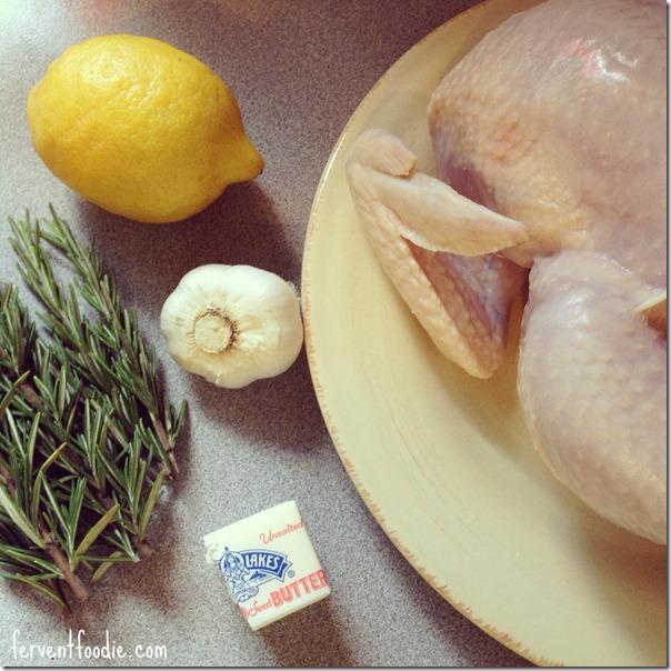 my first roast chicken