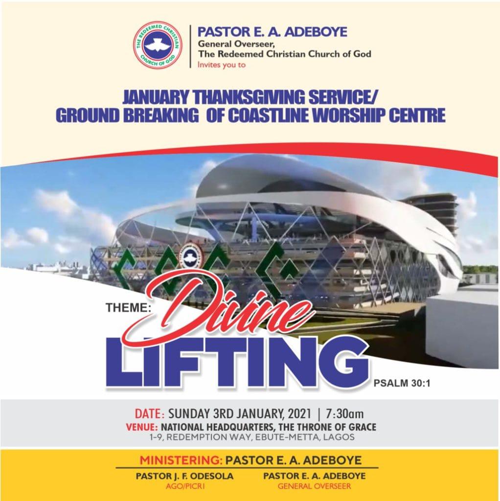RCCG JANUARY 2021 THANKSGIVING SERVICE SERMON –  DIVINE LIFTING