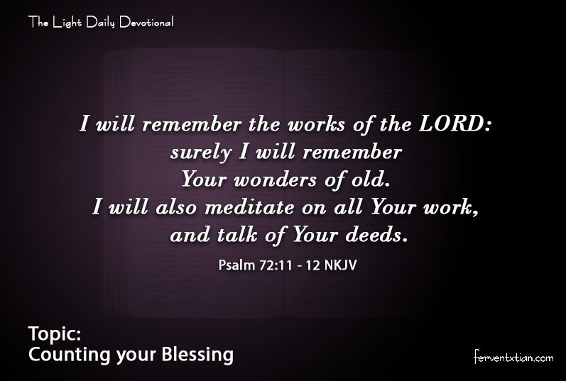 The Light Daily Devotional – Counting your Blessing