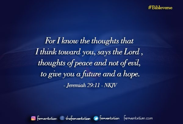 Word of the day: Jeremiah 29 vs 11 – Hope Assured – An Expected End