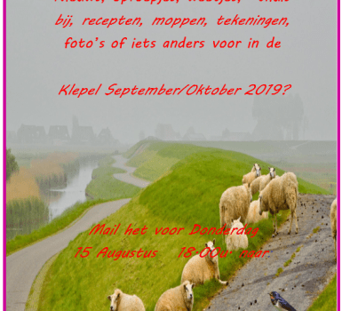 Reminder klepel September- Oktober