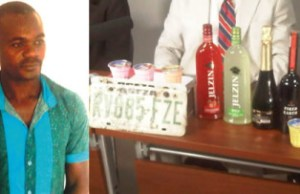 suspected trader in illegal wine Alfred Omeke