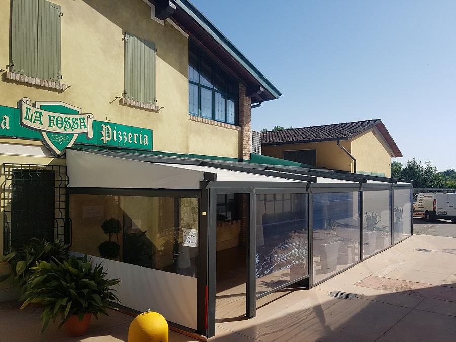 Tenda veranda su misura in pvc trasparente o colorato, tenda invernale, chiusura termica. Tende Avvolgibili In Pvc Trasparente Da Esterno