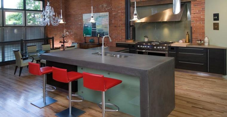 loft beton kuchnia