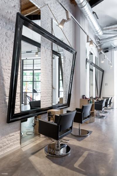 Mikrocement w salonie fryzjerskim