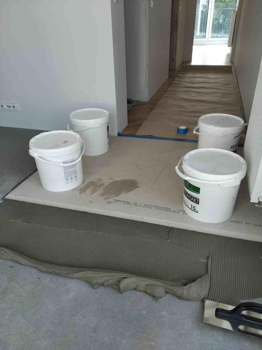 Mikrocement na płytach cementowych