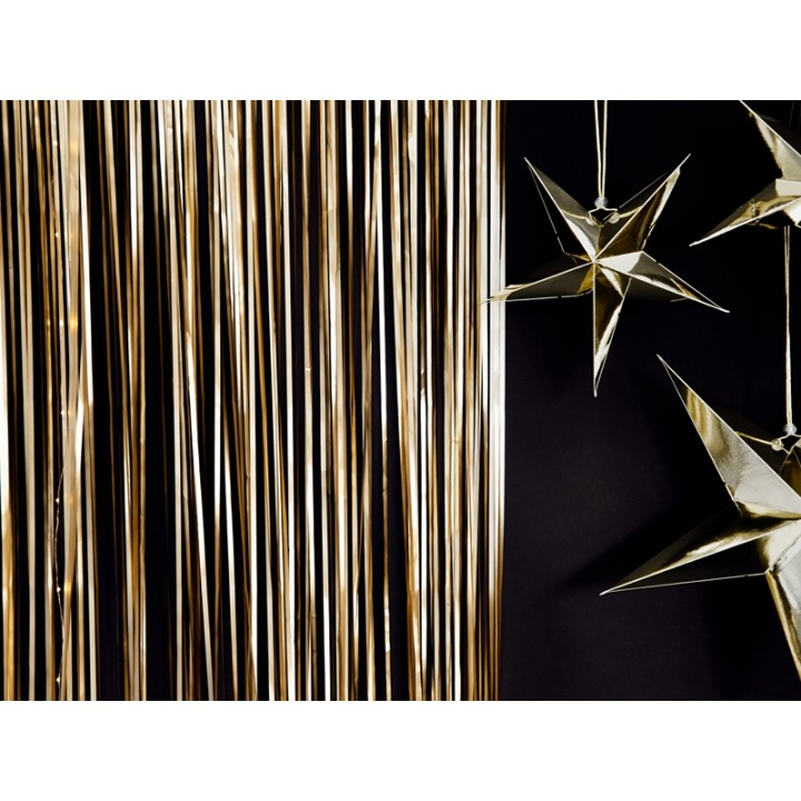 rideau de porte photobooth metallise or 90 cm x 2 50 m