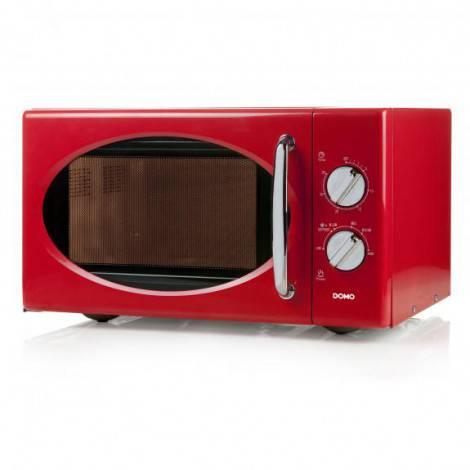 micro ondes rouge retro 25 l 900 w domo do2925