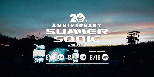 【SUMMER SONIC 2019】サマソニ20周年のヘッドライナー3組が決定