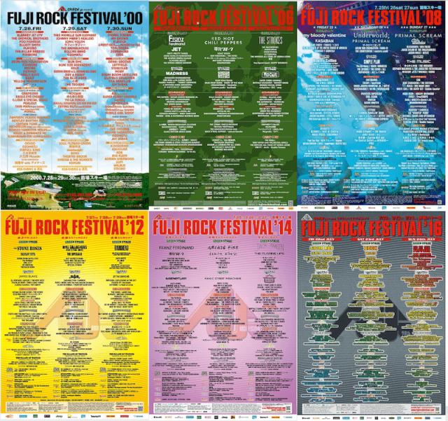 【FUJI ROCK FESTIVAL】フジロック歴代ヘッドライナー&過去ラインナップポスター、各年のトピック、プレイリストも