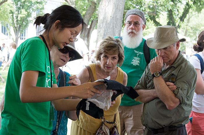 Volunteers can help participants explain and interpret their crafts and other traditions for visitors.