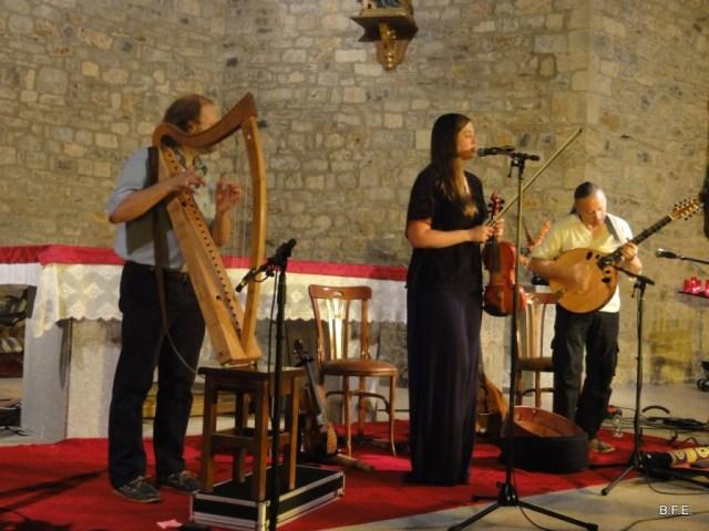 L'ensemble de musique celtique Bogha en l'église de Bielsa le 16 août 2016 - Pyrénées Sobrarbe