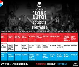 timetable the flying dutch